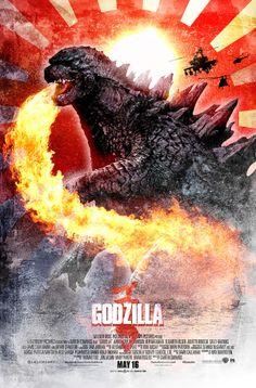 Godzilla by Paul Shipper, via Behance