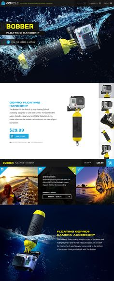 Unique Web Design, GoPole Bobber via @marcosmartins #Web #Design #Product