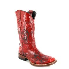 Fashion Boots - Lucchese M5816 Damen Westernstiefel - rot / red