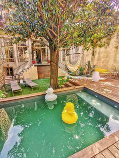 Backyard Pool Designs, Small Backyard Pools, Small Pools, Backyard Patio, Small Pool Design, Outdoor Fun, Outdoor Decor, Dream Pools, My Dream Home
