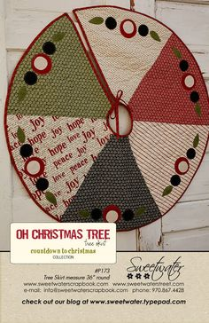 Oh Christmas Tree- Tree Skirt Pattern. $8.00, via Etsy.
