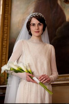 "Now that Lady Mary and Matthew Crawley have finally said ""I do"" brides are sure to turn to the ""Downton Abbey"" couple's big day for ideas for their very own 1920s-inspired weddings...."