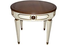 Round Wooden Side Table on OneKingsLane.com
