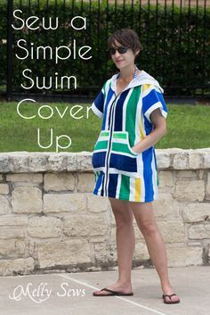 How to Sew a Swim Cover Up Tutorial - from 1 or 2 beach towels  - Melly Sews http://mellysews.com/2014/06/sew-swim-cover-up-tutorial.html