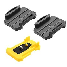 pangshi Adhesive Mount Flat And Curved Form Factors for Sony action cam HDRAS200V AS100V AS30V AS20V AZ1 FDRX1000VR AEE camera accessory * Details can be found by clicking on the image.