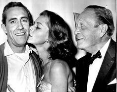Lauren Bacall and husband Jason Robards Jr & Jason Robards Sr......Bacall was married to actor Jason Robards, Jr., who resembled Bogart in various ways, from 1961 to 1969. According to Bacall's autobiography, she divorced Robards mainly because of his alcoholism.
