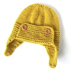 Mustard Aviator Baby Hat knitting project shared on the LoveKnitting Community. Find this pattern and more inspiration on the LoveKnitting Community!