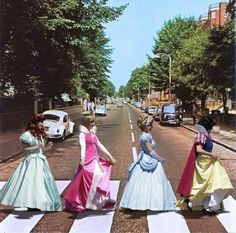 Disney Princesses do Abbey Road . So funny