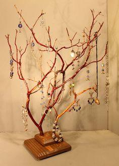 Jewelry Tree   Large Twin Branch Manzanita  1009 by RedBarkDesigns, $39.00