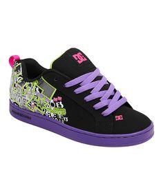 Another great find on  zulily! DC Black  amp  Fluo Purple Court Graffik  Sneaker da64eb62937