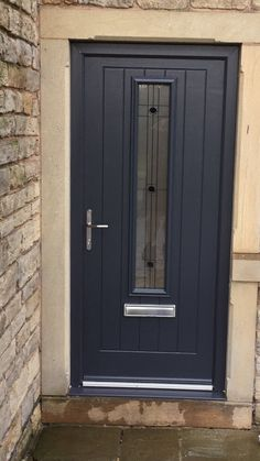 Composite Front Door, Kerb Appeal, Front Doors With Windows, Gray Color, Colour, Entrance Doors, Tall Cabinet Storage, Porch, Construction