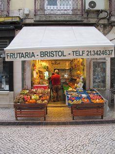 Dowtown Lisbon, Fruit shop, near Rossio #Portugal #Lisbon