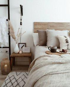 Home Decor Bedroom, Nordic Bedroom, Scandinavian Bedroom, Bedroom Rustic, Bedroom Décor, Earthy Bedroom, Mirrored Bedroom, Peaceful Bedroom, Warm Bedroom
