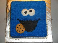 not usually a big Cookie monster fan..but there is just something about this cake it is so cute && simple to make! The woman gives great instructions on how to make it including what tips she used on the icing bags.