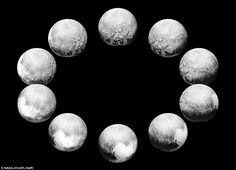 Nasa's latest Pluto pictures depict an entire day on the dwarf planet. The space agency re...