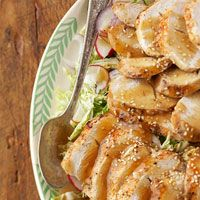 Sesame Turkey ... Looks delicious and only 220 calories per serving? Shut the front door! I'm trying it!