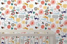 Peel and stick wallpaper by Wee Gallery.