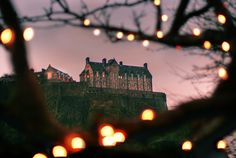 """Twinkling Castle, Edinburgh."" #castle #beautiful #lights"