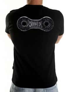 "Cool new cycling tee from Cycology. ""Ride lots"" says Eddy and we have to agree with this profound and ageless wisdom. An ornate renaissance chain link painted in black ink on paper says it all. #cycling t-shirts"