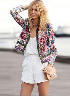 New Jacket Women 2016 Spring O Collar Classic Simple Jacket Veste Femme Manche Longue Cardigan Casaco Femininos Look Fashion, Womens Fashion, Fashion Trends, Fashion Coat, Jackets Fashion, Latest Fashion, Net Fashion, Fashion Stores, Fashion Details