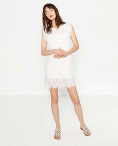 Vestidos blancos troquelados: fotos de los modelos - Vestido blanco Zara