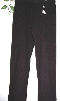 Armani Collezioni  Black Warm Men  Dress Pants Size 40 L NEW Retail $295.00 #ArmaniCollezioni #DressFlatFront
