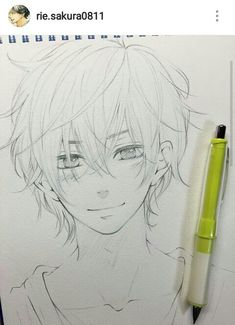 Haru in the anime [My little monster episode] Anime Boy Sketch, Anime Drawings Sketches, Cute Drawings, Boy Drawing, Drawing Base, Manga Drawing, Drawing Ideas, My Little Monster, Anime Kawaii