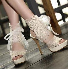 cab5c88956c8d4 Fashion Peep Toe PU Lace-up Ankle Stiletto Heel Sandals 10914315 - Platform  Sandals -