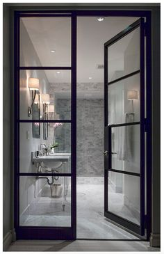 Master Bathroom pocket door style idea
