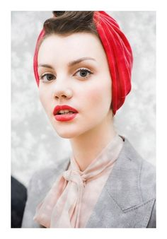 "Tie the scarf without putting your bangs under and #poof ""I Love Lucy"" meets 2013 in a very #chic way"
