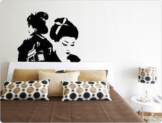 Geisha, Japan - Wandtattoo Wandaufkleber