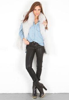 Paige Premium Denim Silk Coated Verdugo Ultra Skinny in Black