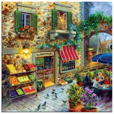 Done it in 500 pieces. Extra large piece size for easy handling. Finished size: 27 x Artist: Nicky Boehme.Sunsout puzzles are made in the USAEco-friendly soy-based inksRecycled boardsNot sold in mass-market Painting Prints, Wall Art Prints, Canvas Prints, Belle Image Nature, Sunsout Puzzles, Vintage Illustration, Pintura Exterior, Puzzle Art, Puzzle 1000
