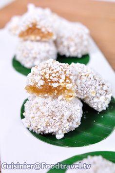 ขนมข้าวตอกตั้ง (ขนมไทยโบราณ)  Thai Dessert