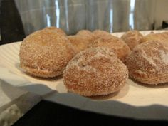 """The movers are coming for our pack out in about 10 days, so I'm trying to squeeze in all my """"fun"""" recipes before they pack up most of my kitchen stuff. We used our counter-top dee… Bisquick Donut Recipe, Bisquick Recipes, Baking Recipes, Köstliche Desserts, Delicious Desserts, Dessert Recipes, Yummy Food, Breakfast Recipes, Breakfast Dishes"""