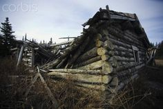 The Silver City Ghost Town Located Along The Alaska Highway