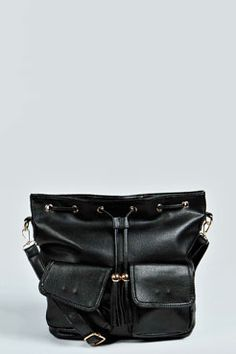 Cece Double Pocket Front Duffle Bag at boohoo.com