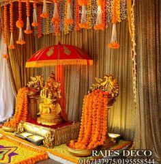 Housewarming Decorations, Wedding Stage Decorations, Backdrop Decorations, Diwali Decorations, Festival Decorations, Flower Decorations, Ganpati Decoration Images, Flower Decoration For Ganpati, Mandir Decoration