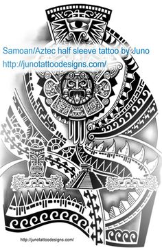 Samoan Aztec tattoo design for 3/4 sleeve by Juno , tattoo designs made to order http://junotattooart.wordpress.com/