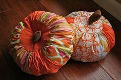 fabric scrap pumpkin