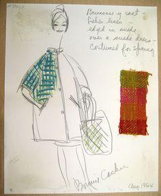 Bonnie Cashin Sketch- Dorothy Liebes coat   Flickr - Photo Sharing!