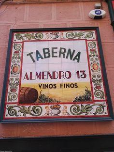 Taberna El Almendro, 13, Barrio de La Latina, El Almendro, 13 Tavern La Latina