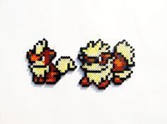 Pokemon Perler - Growlithe / Arcanine / or Full Set of 2