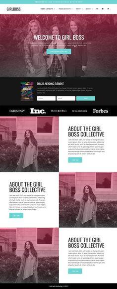 Wordpress Theme - Girlboss by Authority on @creativemarket #afflink