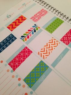 Colorful Washi Stickers for Erin Condren Life by PlannerKate1, $5.00