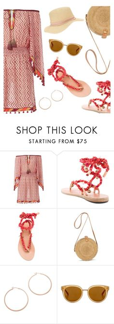 """""""Outfit of the Day"""" by dressedbyrose ❤ liked on Polyvore featuring Talitha, Ancient Greek Sandals, Jennifer Zeuner, Draper James, Miss Selfridge, Summer, ootd and polyvoreeditorial"""