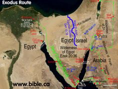 Bible maps- Exodus route
