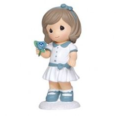 March Girl With Flowers - Aquamarine - Birthday - Figurines - Precious Moments
