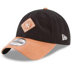 Men's New York Yankees New Era Black/Natural Wilson Collaboration 9TWENTY Adjustable Hat
