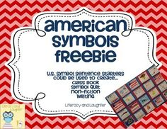 Enjoy this American Symbols FREEBIE!! :)This product includes headers or sentence starters for many U.S. Symbols. You can use these to create a class book or quilt. My students LOVED creating a symbol quilt this year.Check out the gorgeous American Symbols Quilt that my students created.
